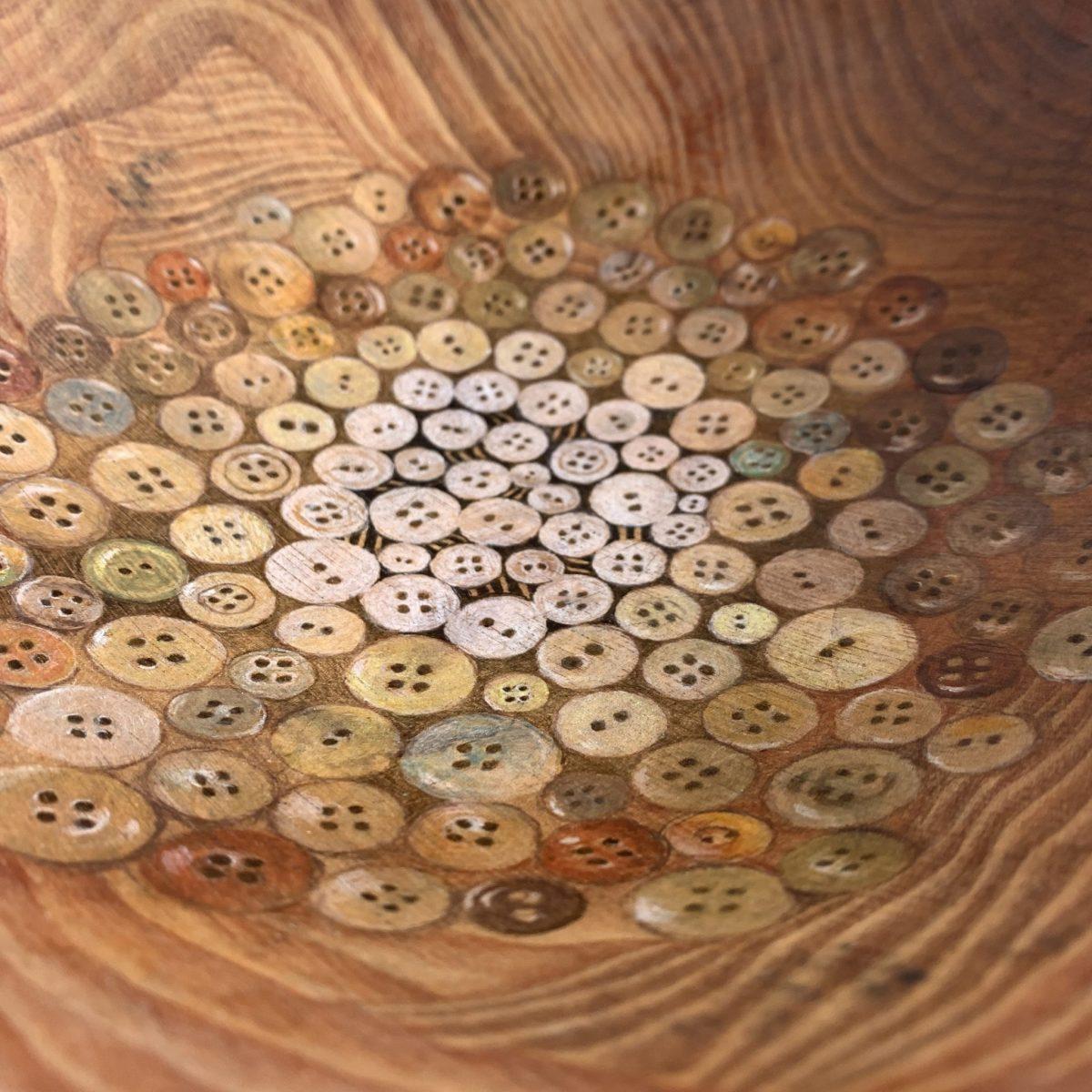 Margaret Davidson Button Pattern Bowl