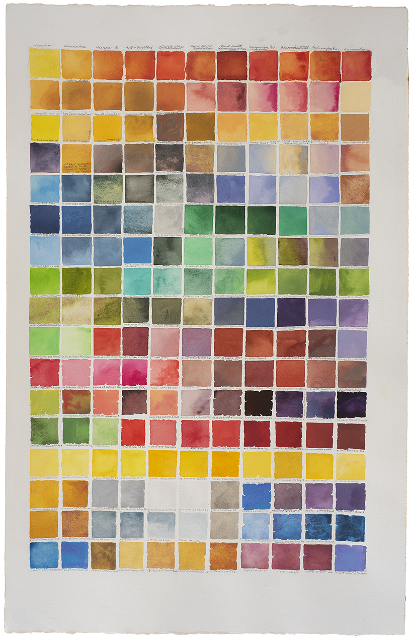 color chart V frame