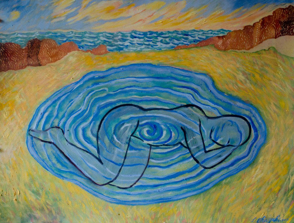 Pond woman
