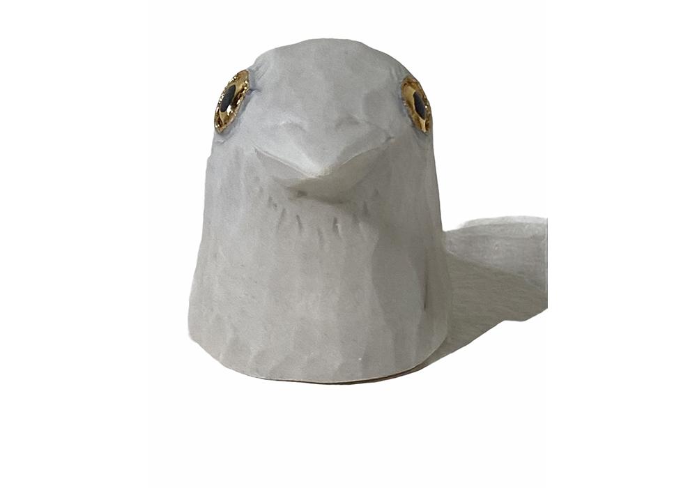 Bird Head (Light Grey)