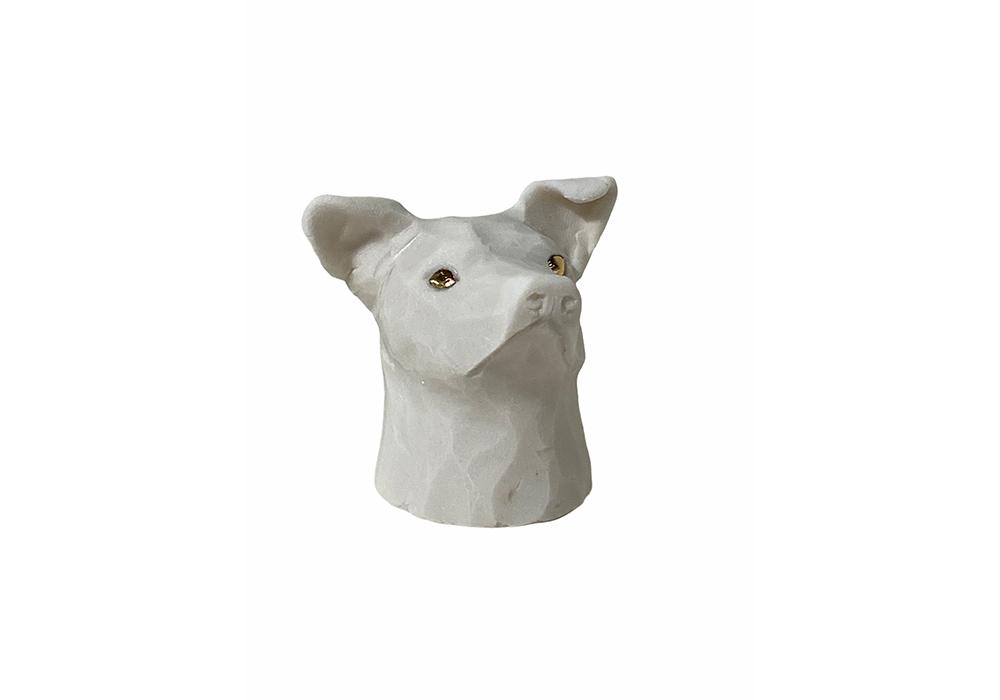 Dog Head (White)